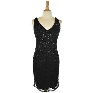 Ralph Ralph Lauren Black Sequin Midi Dress